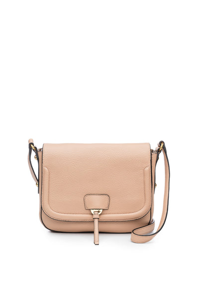 Camille Saddle Bag in Nude