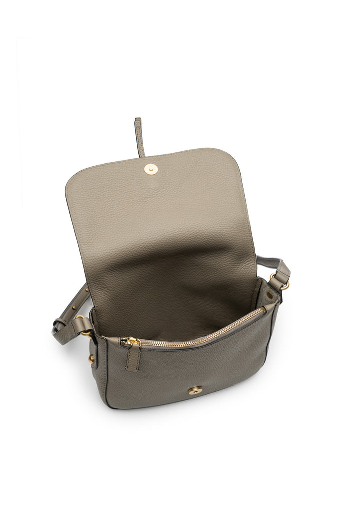 Camille Saddle Bag in Silver