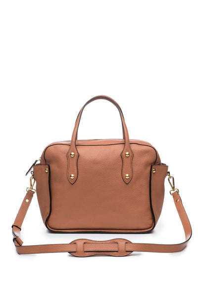 Clementine Satchel in Wheat