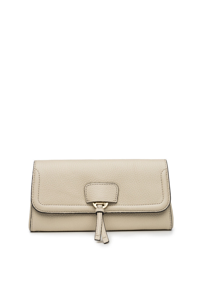 Collette Clutch in Bone