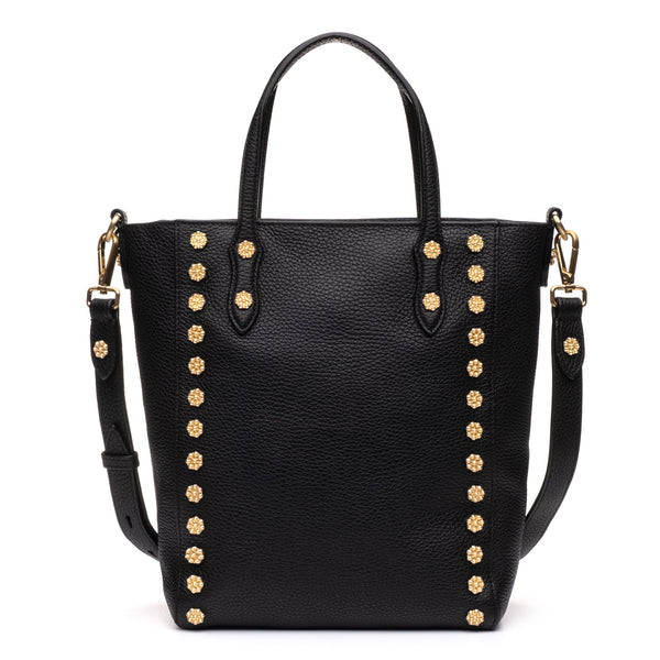 Daisy Stud Tote in Black