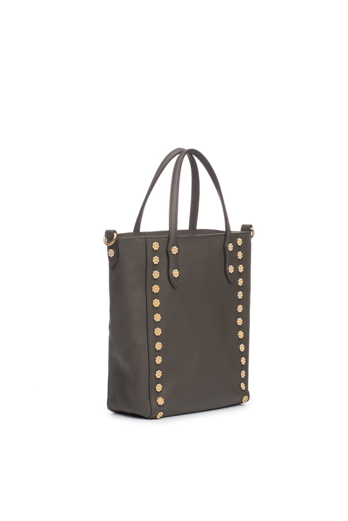Daisy Stud Tote in Linen