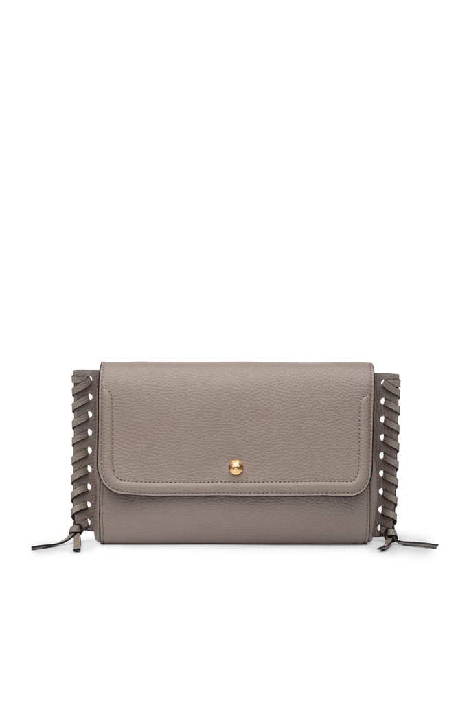 Emma Oversized Clutch Ash