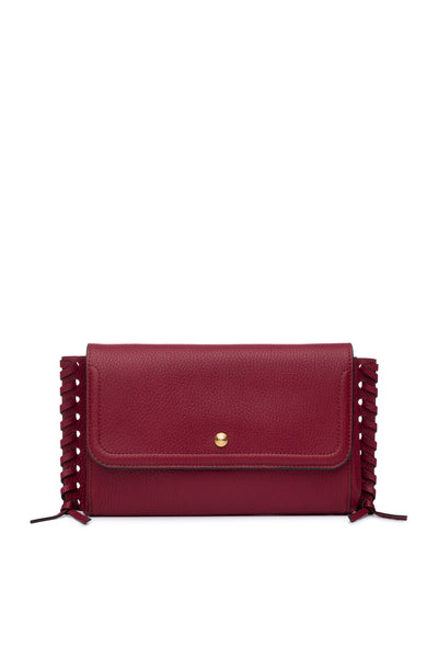 Emma Oversized Clutch Barberry