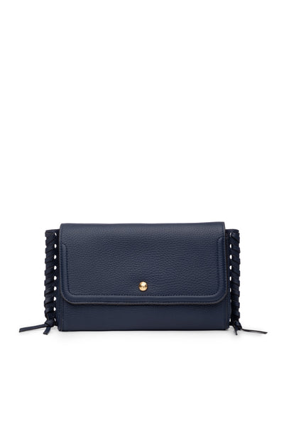 Emma Oversized Clutch Navy