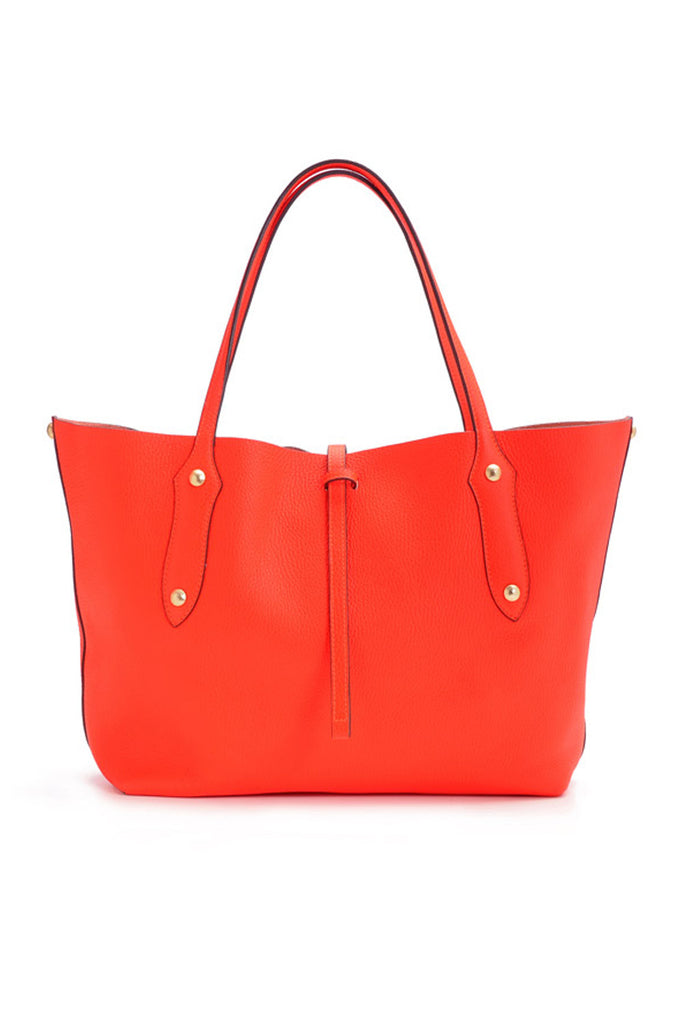 Small Isabella Tote Tangerine