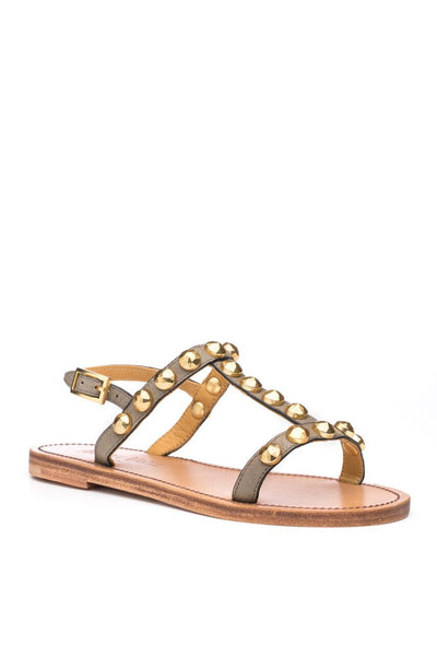 Isabella Stud Sandal in Putty