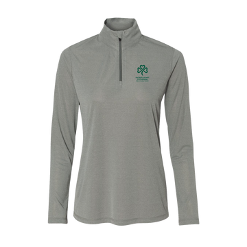 SHC Ladies' Athletic Heather 1/4 Zip Sweatshirt - PRE-ORDER