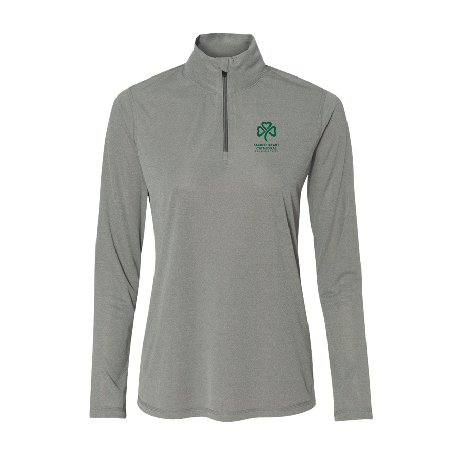 SHC Ladie's Athletic Heather 1/4 Zip Sweatshirt - PRE-ORDER