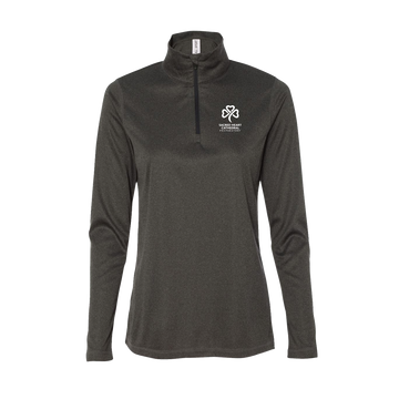 SHC Ladies' Dark Grey 1/4 Zip Sweatshirt - PRE-ORDER
