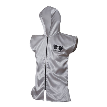 RAGING BEASTS Premium sleeveless Silver Ring Jacket