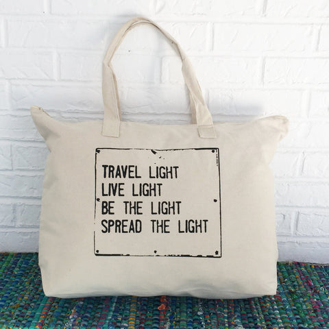 "SLT ~ ""TRAVEL LIGHT..."" Carry All Tote Bag"