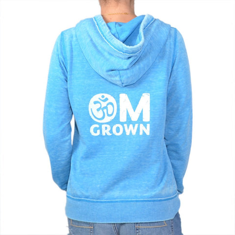 "SLT ~ ""OM GROWN"" Burnout Zip Hoodie"
