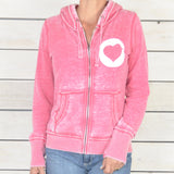 "SLT ~ ""FREED(OM)"" Burnout Zip Hoodie"
