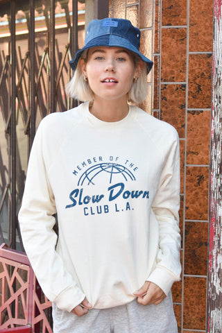 NAL ~ SLOW DOWN CLUB - IVORY SWEATSHIRT
