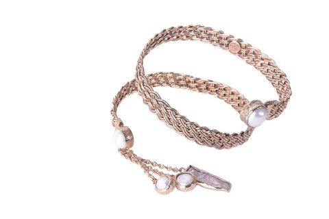 INDAH ~ The PEARL Braided Arm Band