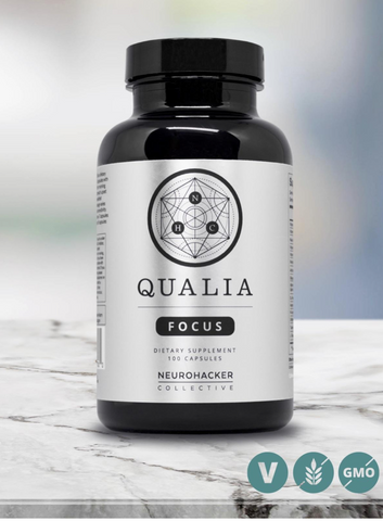 NEUROHACKER - 6 Pack of Qualia Focus - 100 Count