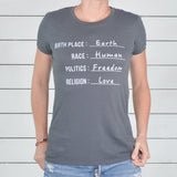 "SLT ~ ""CITIZEN OF EARTH"" 100% Organic Cotton Unisex Tee"