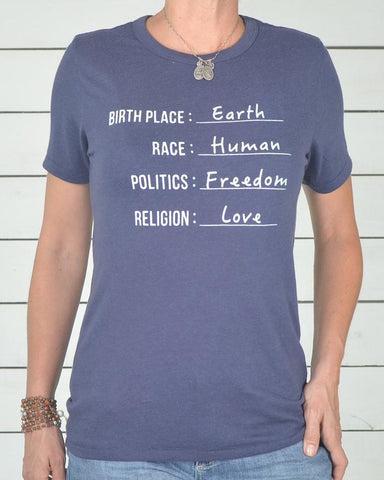 "SLT ~ ""CITIZEN OF EARTH"" Navy Bue Soft Unisex Tee"