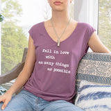 "SLT ~ ""FALL IN LOVE..."" Port V-Neck Muscle Tee"