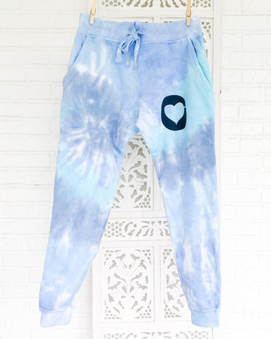 SLT ~ Tie Dye Sweatpants - Blue Dream Fleece