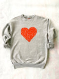 SLT ~ HEART Heather Grey Sweatshirt
