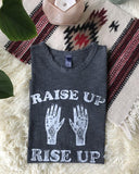 "SLT ~ ""RAISE UP, RISE UP"" 100% Cotton Coal Muscle Tee"