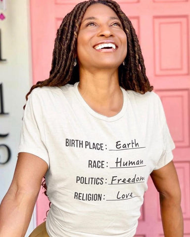 "SLT ~ ""CITIZEN OF EARTH"" 100% Organic Cotton Cream Unisex Tee"