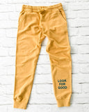 "SLT ~ ""LOOK FOR GOOD"" Golden Cotton Jogger"