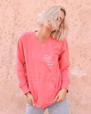 "SLT ~ ""LOVE AND BE LOVED"" Watermelon French Terry Sweatshirt"