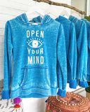 "SLT ~ ""OPEN YOUR MIND"" Pullover Fleece Hoodie"