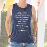 "SLT ~ ""I PLEDGE ALLEGIANCE TO THE LOVING..."" Navy Muscle Tee"