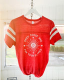 "SLT ~ ""SEEK THOSE WHO FAN YOUR FLAMES"" Heather Red Sporty Tee"