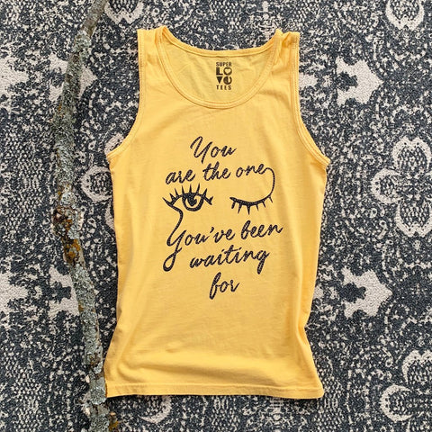 "SLT ~ ""YOU ARE THE ONE YOU'VE BEEN WAITING FOR"" Daffodil Unisex Cotton Tank"