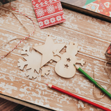 Sweet Memory Maker Wooden Ornaments+FREE Christmas Book