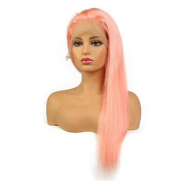 Pink Peruvian Lace front with Wig Pre-Plucked Hairline
