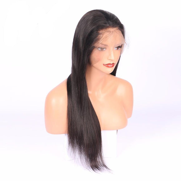 Brazilian Silky Straight Lace Front Wig With Baby Hair