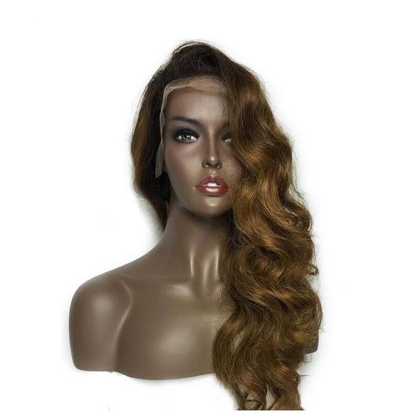 Ombre  Lace Front Human Hair Wig with Baby Hair
