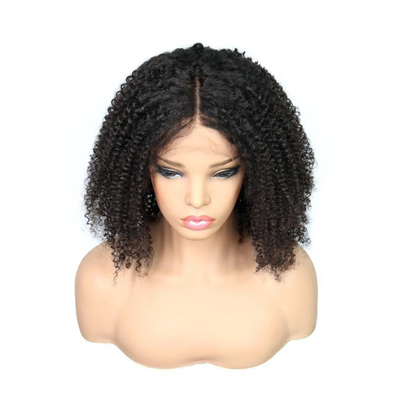 Afro Kinky Curly Glueless Brazilian Lace Front Wig