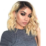 Brazilian Lace Front Wig Pre Plucked with blonde ombre