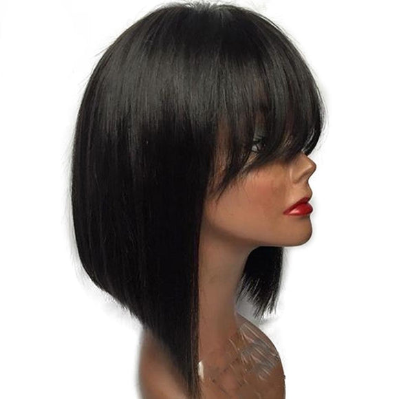 Short Bob Lace Front Wigs With Bangs
