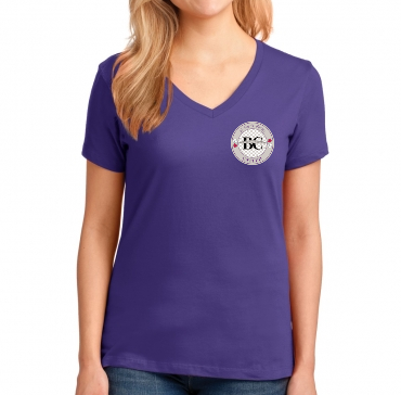Fan Gear Ladies V-Neck Shirt (Purple)
