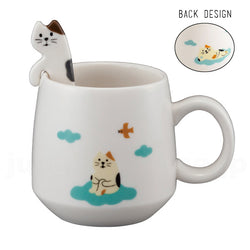 Concombre Cat Mug with Spoon