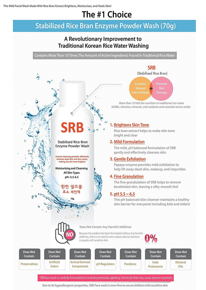 SRB Rice Bran Enzyme Powder Wash - oo35mm