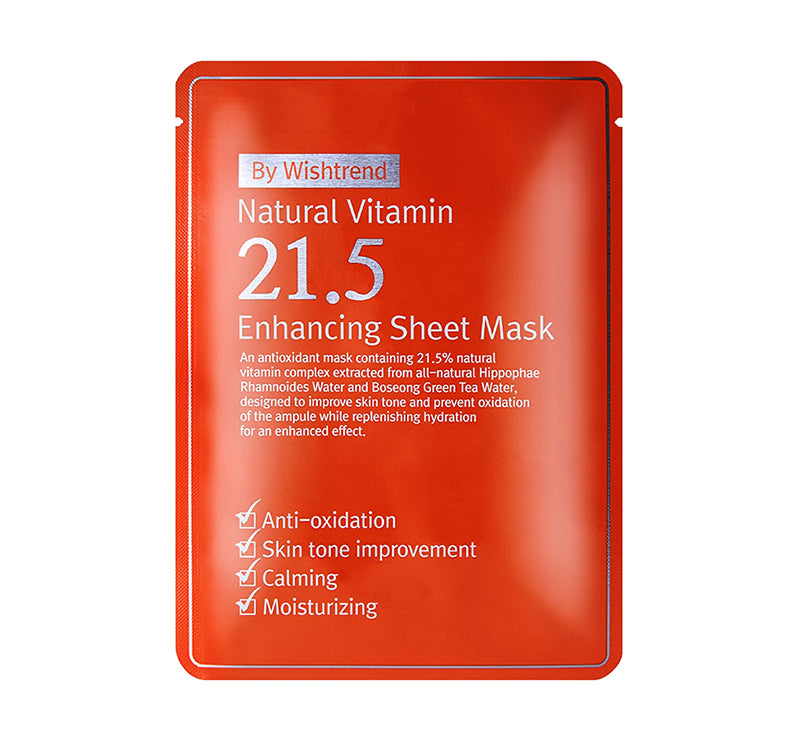 By Wishtrend Natural Vitamin 21.5 Enhancing Sheet Mask - oo35mm