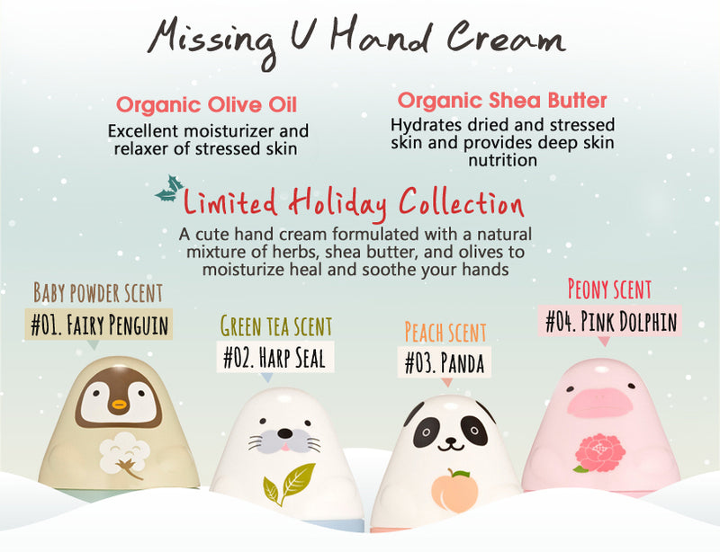 Etude House Missing U Hand Cream - Pink Dolphin Story