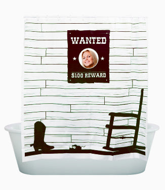 Peek-A-Boo, Wanted Shower Curtain Brown - oo35mm