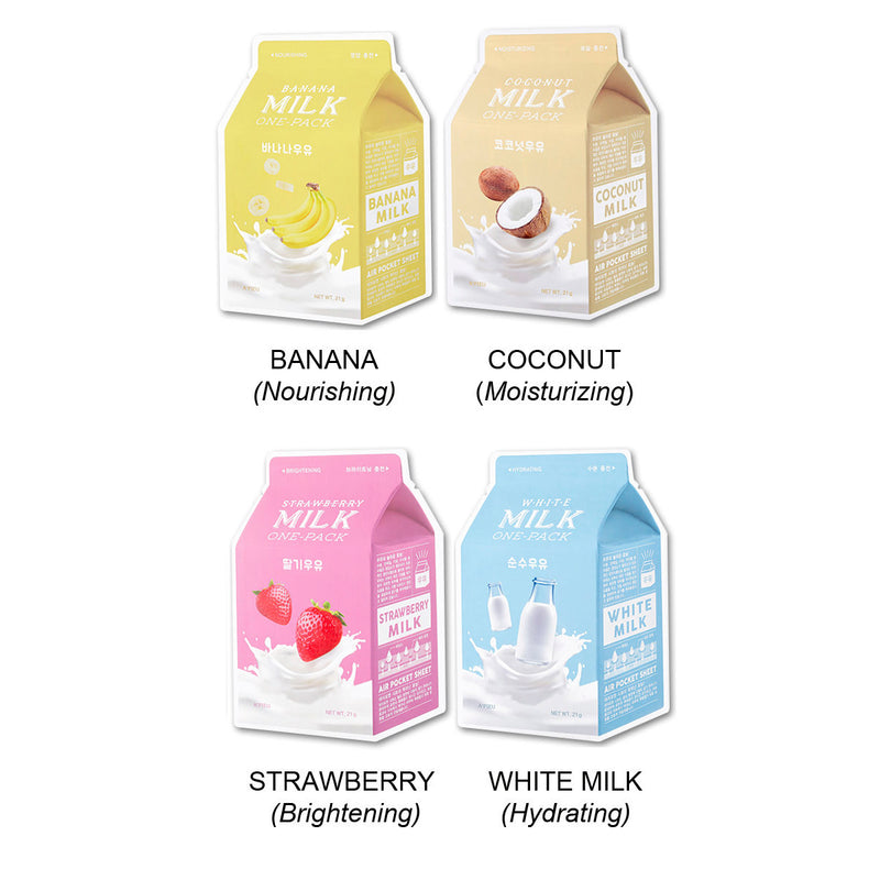 A'pieu Milk Variety Mask 4 Pack