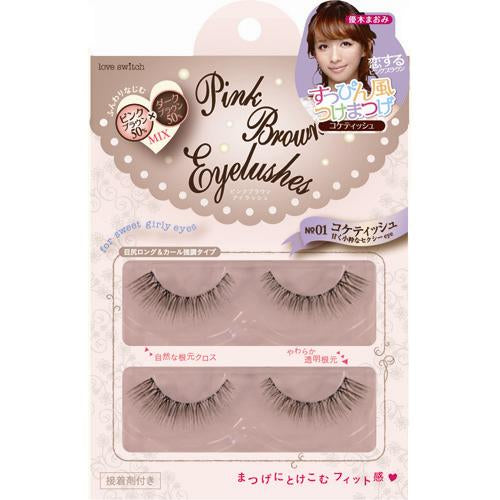Fits Love Switch Pink Brown Eyelash 01 Coquettish