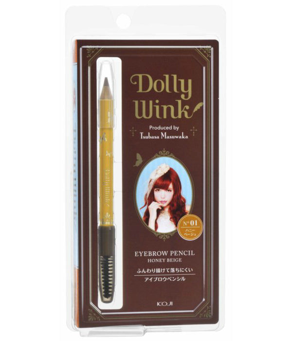 Koji Dolly Wink Eyebrow Pencil - 01 Honey Beige - oo35mm